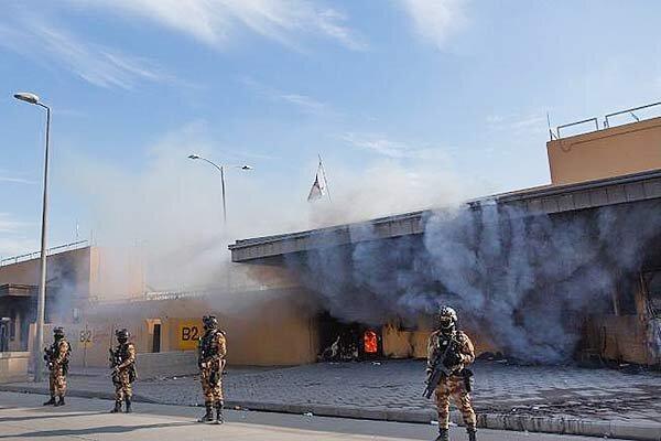 آژیرهای سفارت آمریکا در بغداد به صدا درآمد