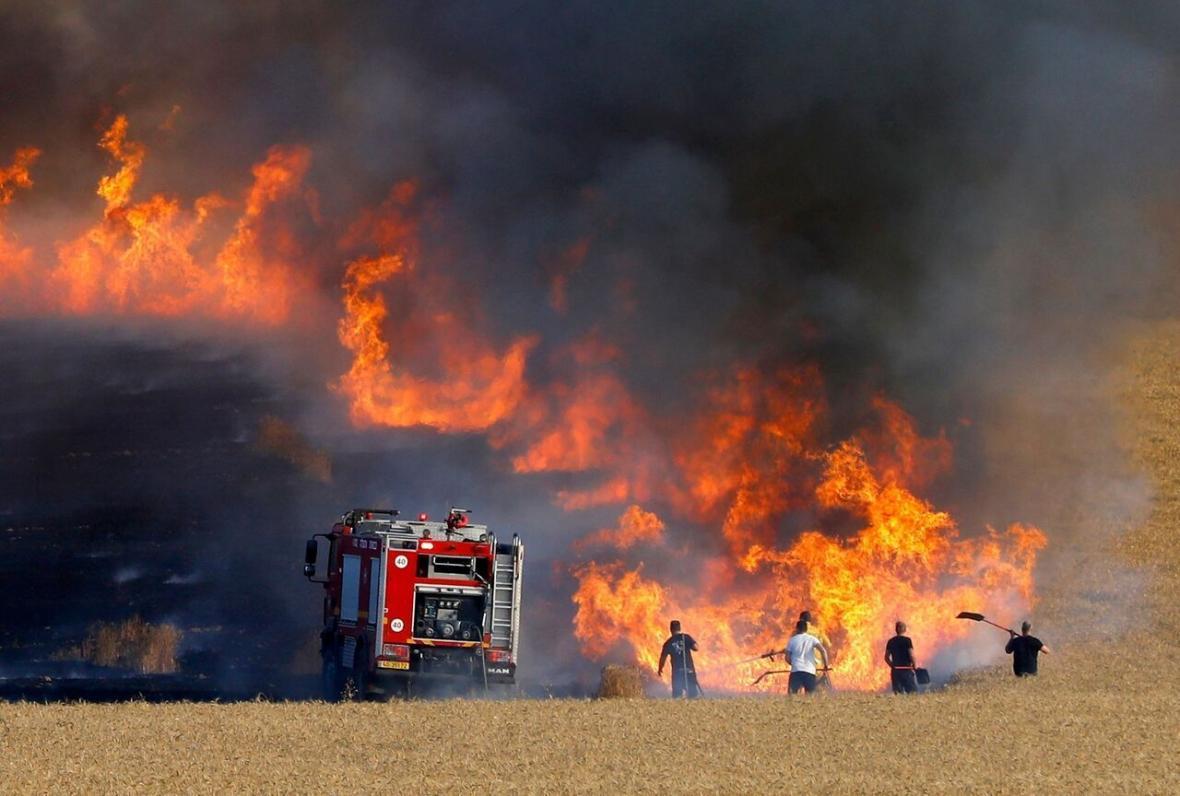 آتش سوزی در کشتزارهای عراق