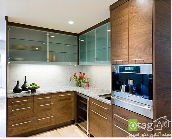 انواع جدید مدل کابینت شیشه ای و شفاف در دکوراسیون آشپزخانه