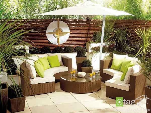 مدل مبلمان مناسب حیاط و باغ در خارج از خانه و هوای آزاد