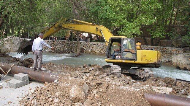 157 هزار مترمربع از حریم رودخانه های همدان آزاد شد