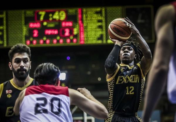 لیگ برتر بسکتبال، پیروزی اکسون مقابل خانه بسکتبال خوزستان، آمریکایی ها دابل دابل کردند
