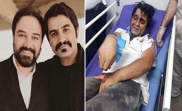 (تصویر) حمله به دو بازیگر سریال دودکش هنگام تبلیغ برای رئیسی