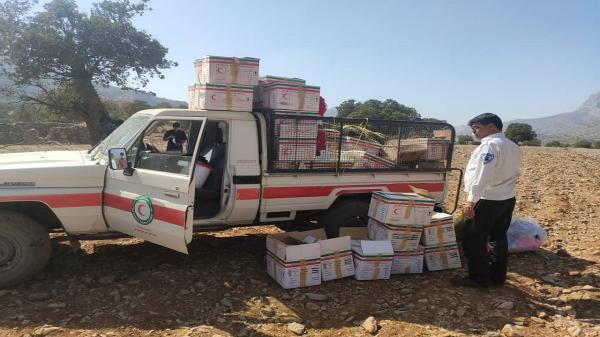 امدادرسانی هلال احمر به بیماران کرونایی در منطقه روستایی دورک دزفول